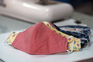 Homemade cloth face covering for COVID-19
