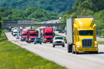 Vehicles on highway