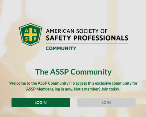ASSP Community Login Screen