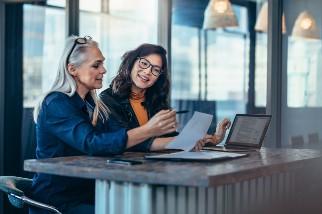 Businesswomen meeting in an office