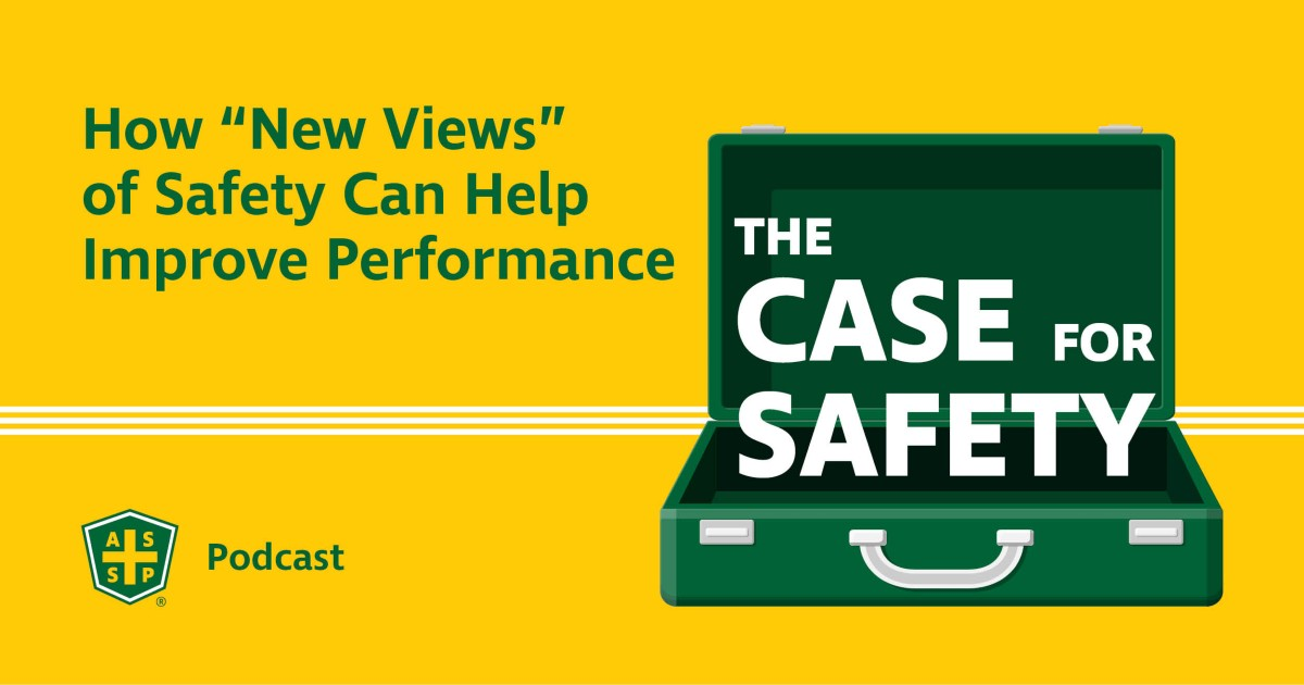 """The Case for Safety Podcast Graphic with """"New Views"""" Text"""