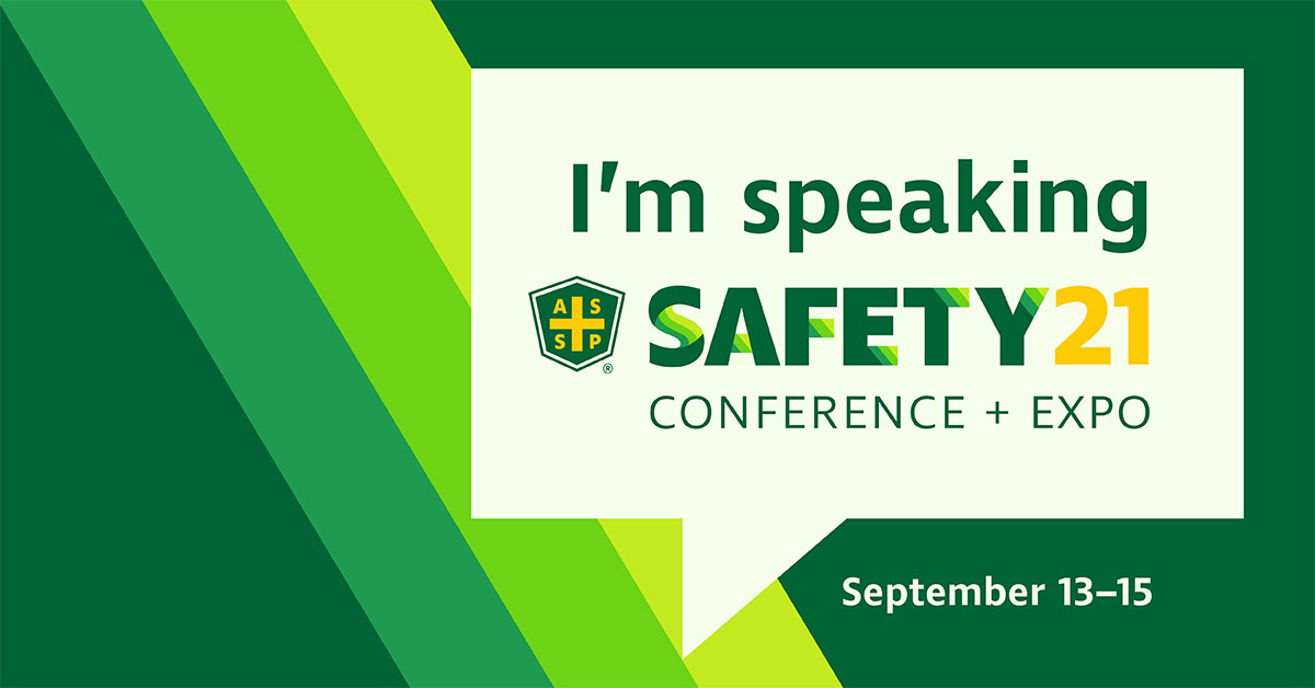 I am speaking at Safety 2021